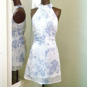 Dresses & Skirts - Vero Moda, white/blue, halterneck, short dress